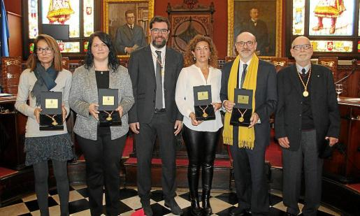 Gloria Lladó, Ana Belén Linde, Antoni Noguera, Joana Maria Moll, Carles Bona y Josep Sanchís.