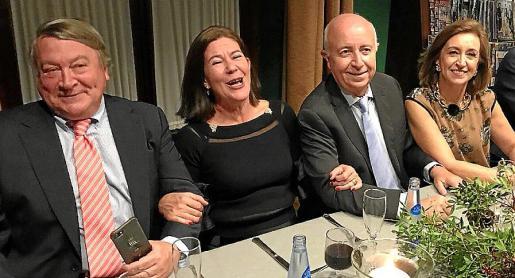 José Aymar, María José Sánchez de León, José Bonilla y Carmen Alemany.