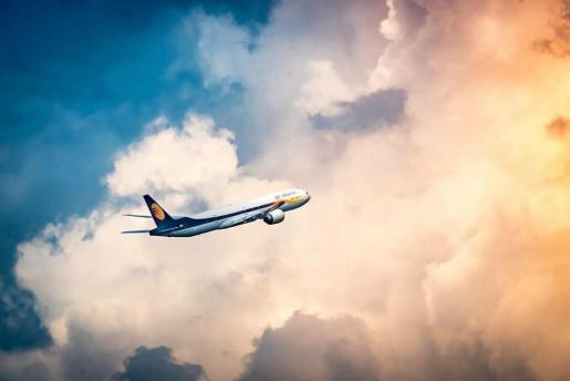Imagen de un avión de Jet Airways.