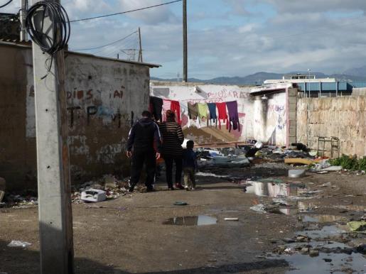 Imagen del poblado de Son Banya, que Cort pretende desmantelar en tres años.