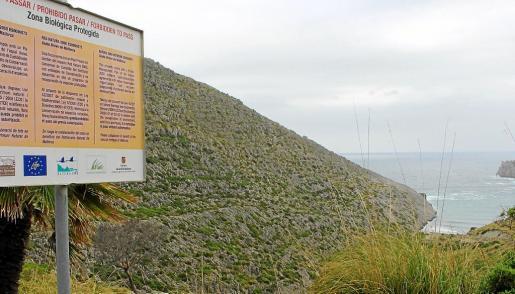 La zona de exclusión de Cala Castell limita el acceso por el Camí de Ternelles hasta el mar.