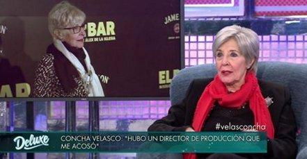 La actriz Concha Velasco durante su aparición en el programa de Telecinco Sábado Deluxe.