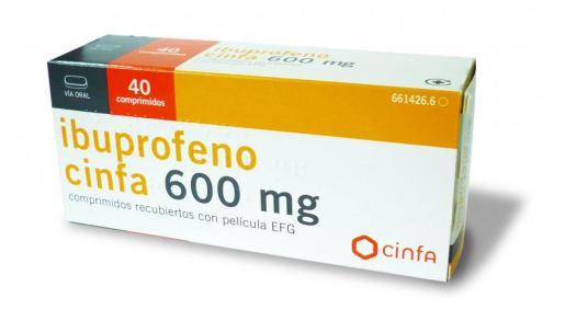 El ibuprofeno, uno de los antiinflamatorios más utilizados.