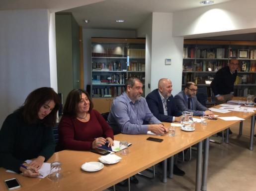 Imagen de la reunión Consell-Govern para tratar el traspaso de las competencias de Promoción Turística.