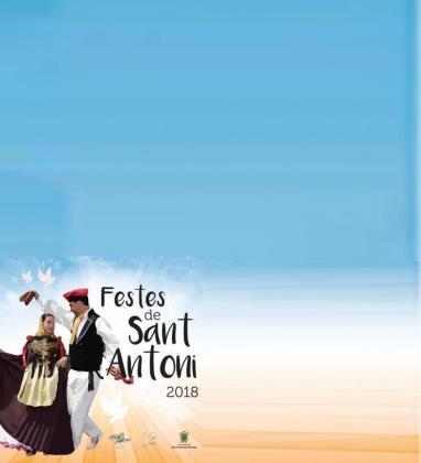 Imagen del programa de fiestas de 2018 de Sant Antoni de Portmany.