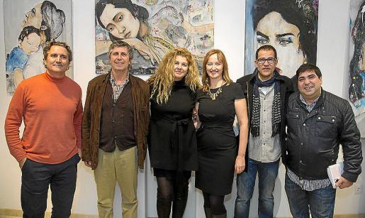 Enrique Juncosa, Luis Berastain, Pilar Correa, Adriana Maskarova, Miguel Ramón y José Luis Mesas.