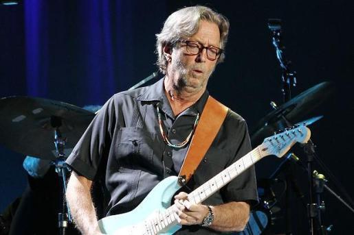 Eric Clapton durante un concierto.