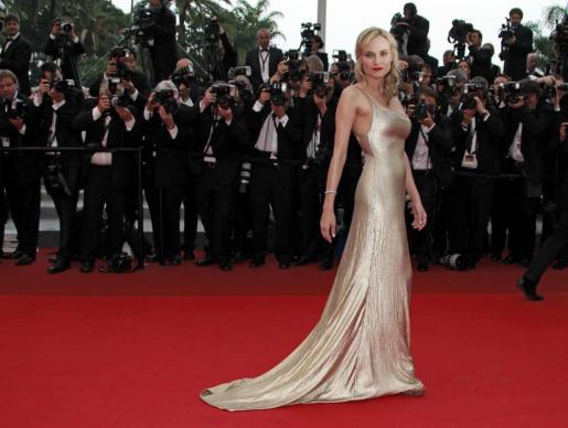 La actriz Diane Kruger, a su llegada al estreno de 'Sleeping Beauty'.