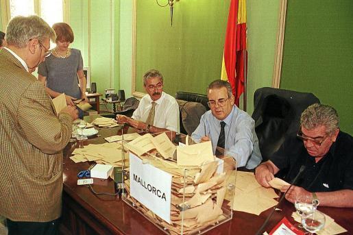 Imagen del recuento final en unas anteriores elecciones.