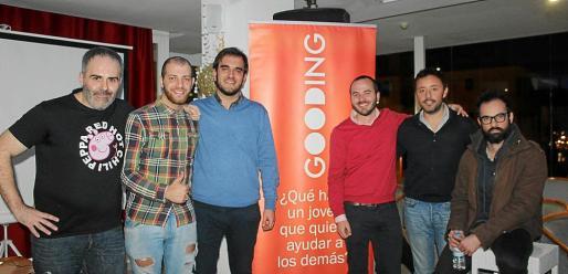 Santi Liébana, Juma Fernández, Toni Buades, el presidente de Gooding Mallorca, Paco Berga; Javier Ureña y Tolo Sansó.