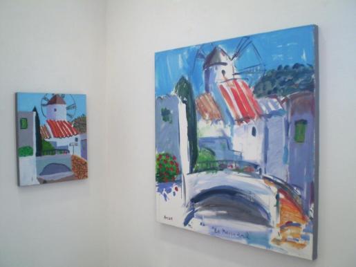 Un detalle de la exposición que se puede ver en el Casal de Cultura de Can Gelabert.