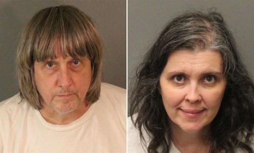 Imagen policial de los padres detenidos, David Allen Turpin y Louise Anna Turpin.