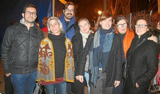 Joan Ferrer, Paz Alcoverro, Sebastià Mascaró, Aina Bausà, Sonia Culebras, Joana Maria Riera y Maria Antònia Oliver.