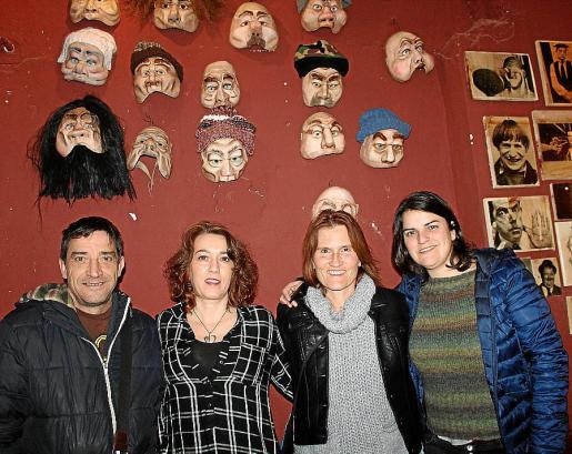 Juan Carlos Seguí, Carmen Zarzosa, Blanca Palomo y Verónica Relancio.