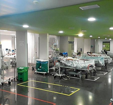 Imagen de la zona de camillas del hospital Son Espases.