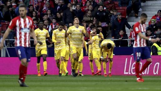 El Atlético no puedo con el Girona en el Wanda y dice adiós a la Liga