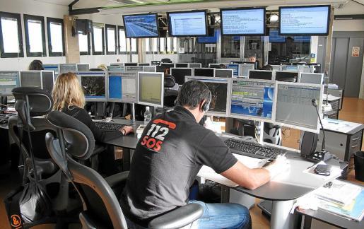 Imagen del centro de recepción de llamadas del 112 donde el operador colgó dos veces el teléfono.