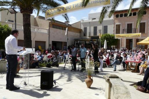 La plaza Tomeu Penya de Vilafranca acogió el acto.