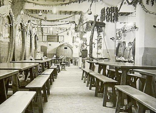 Imagen antigua del Celler Sa Premsa.