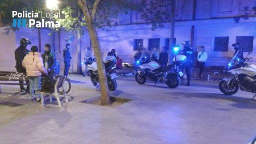 Actuación de la Policía Local de Palma.