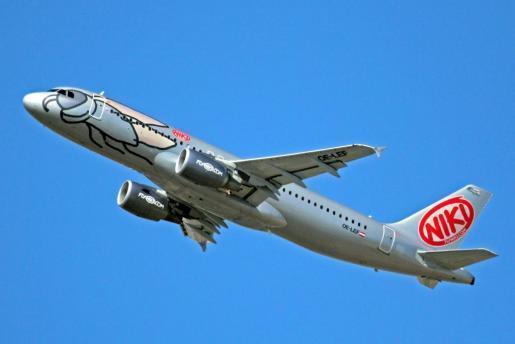 Imagen de un avión de la compañía Niki.
