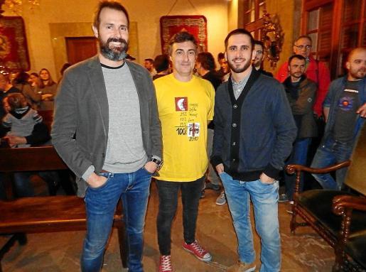 Tres de los aspirantes al personaje principal: Guillem Coll, Mateu Ensenyat y Vicenç Reynés.