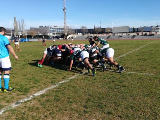 Imagen de archivo de un partido de rugby disputado en Mallorca.