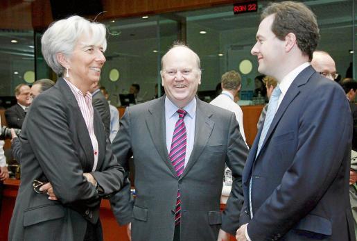 Los ministros de Economía de Francia, Irlanda y Reino Unido.