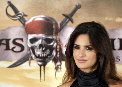 """La actriz Penélope Cruz, durante la presentación de """"Piratas del Caribe: En mareas misteriosas"""", dirigida por Rob Marshall, hoy en Madrid."""