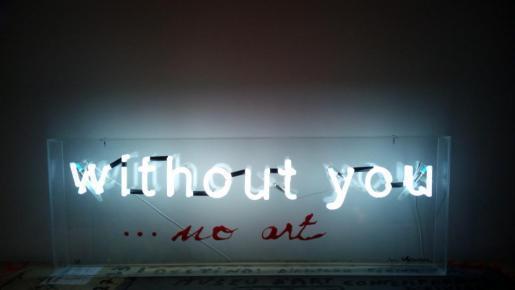 'Without you no art', H. Jenninger, Can Botino 2017.