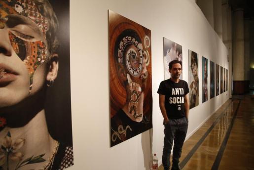 Amadeo Orellana en una de sus exposiciones.