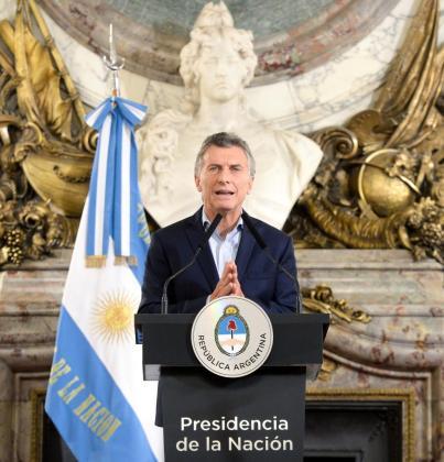 El presidente argentino, durante su alocución a sus compatriotas.