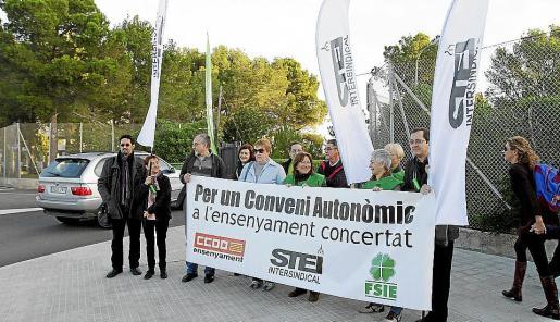 Imagen de archivo de una concentración por los derechos de los docentes de la concertada.