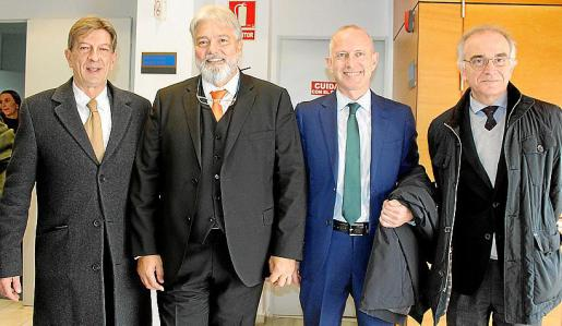 Antoni Real, Pere Ballester, Toni Coll y Macià Thomàs.