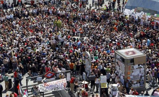 Imagen de hoy de la Puerta del Sol.