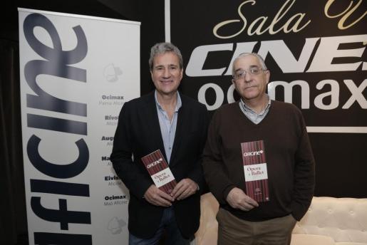 Juan Salas y Sebastián Salom acudieron al acto en representación de Aficine.