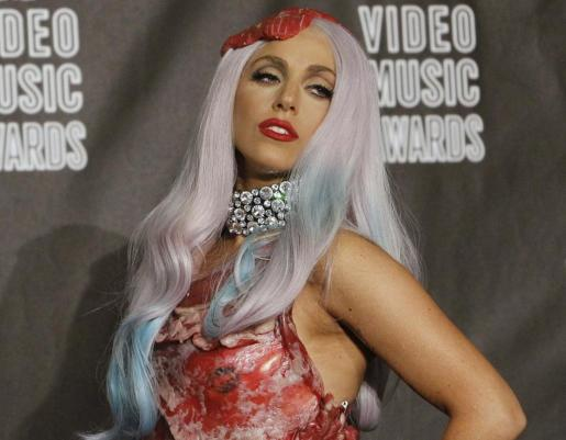 La cantante Lady Gaga, tras ganar ocho premios en los MTV Video Music Awards, el 12 de septiembre de 2010.