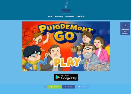 Imagen de la pantalla de inicio del juego PuigdemontGo!.
