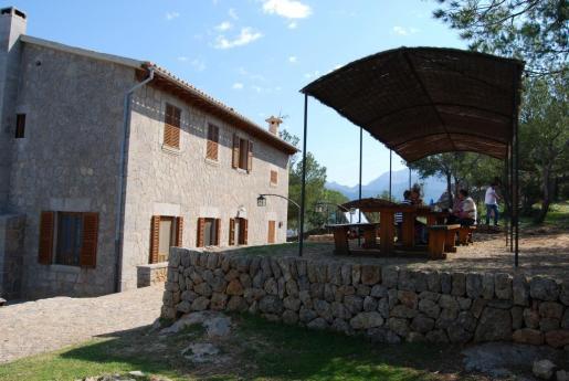 El refugio de Muleta está situado en Sóller, muy cerca del puerto.