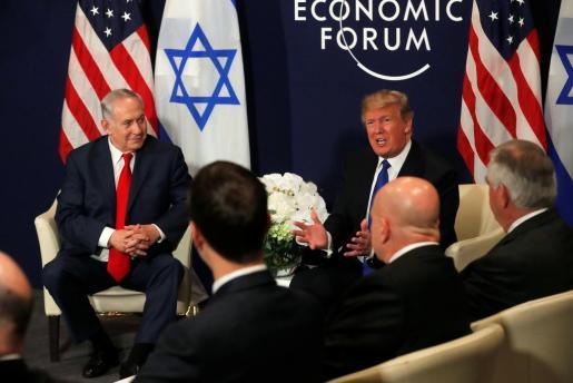 El presidente de los EEUU, junto al primer ministro israelí Benjamin Netanyahu en un reciente encuentro.