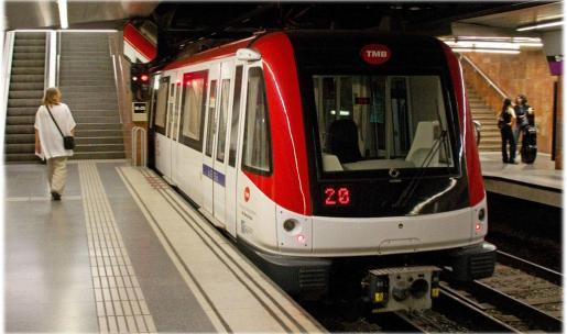 Imagen de archivo del metro de Barcelona.