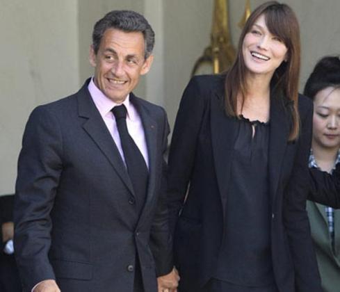 Nicolás Sarkozy y Carla Bruni, en una imagen de archivo.