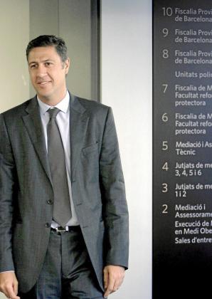 García Albiol, saliendo de los juzgados el pasado 20 de octubre.