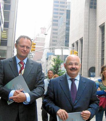 Kurt Viaene y Josep Juan Cardona en un viaje a Nueva York.