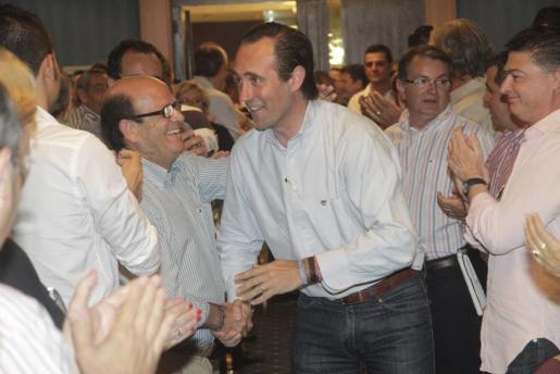 José Ramón Bauzá, a su llegada al hotel Bellver, donde se ha celebrado la reunión de la Ejecutiva del PP.