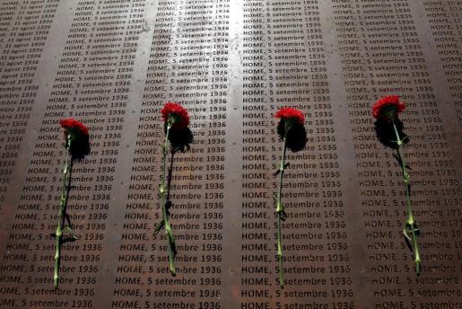 DetDetalle de la placa inaugurada ayer en el cementerio de Palma.