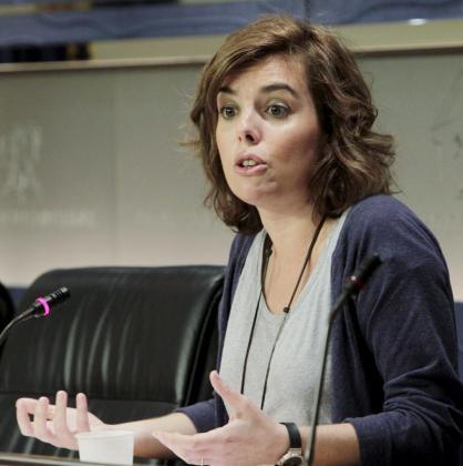 La portavoz del PP en el Congreso de los Diputados, Soraya Sáenz de Santamaría.