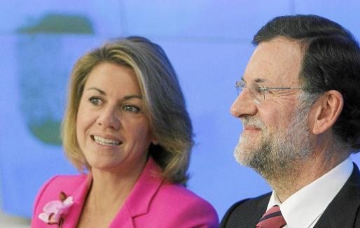 De Cospedal y Rajoy, ayer en Madrid tras la reunión que celebró la Junta Directiva Nacional del PP.