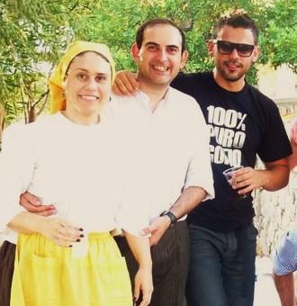 Esther Reina, Carlos Ferragut y Eduardo Lustono.