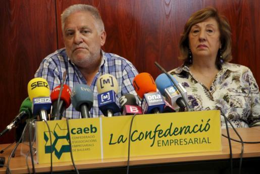 El presidente de Escola Católica de Baleares, Bernat Alemany, fue el encargado de realizar las declaraciones a la prensa, tras la reunión celebrada esta mañana.